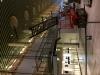 Demontering af trappe i lufthavnen