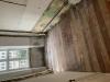 Fra gl ødelagt plankegulv til renoveret med renoveret planker fra genbyg