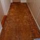 Afslibning af fernis gulv og fernis trappe.
